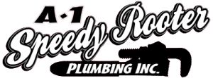 A-1 Speedy Rooter and Plumbing Logo. Offering Shower Installation and Repair